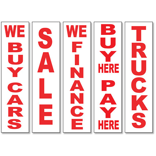 Red-White Vertical Message Sign