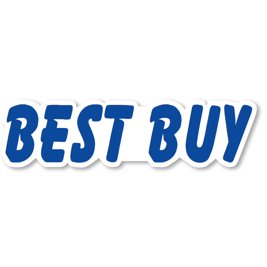 Best Buy - Blue & White Peel-and-Stick Designer Cut Slogans