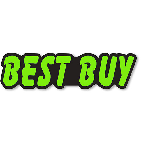 Best Buy - Chartreuse a& Black Peel-and-Stick Designer Cut Slogans