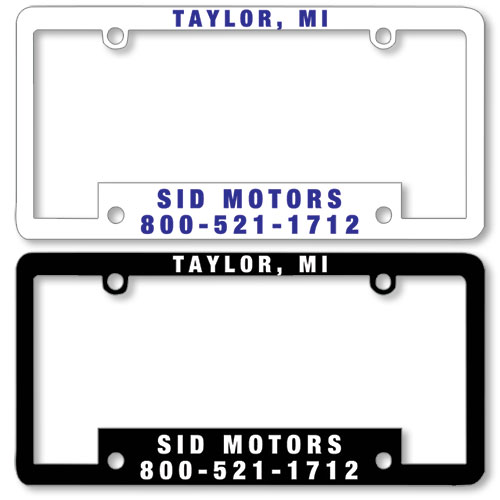 Premium Plastic Dealer License Plate Frames - 1 Color