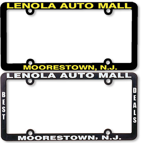 Premium Plastic Dealer License Plate Frames - 2 Color