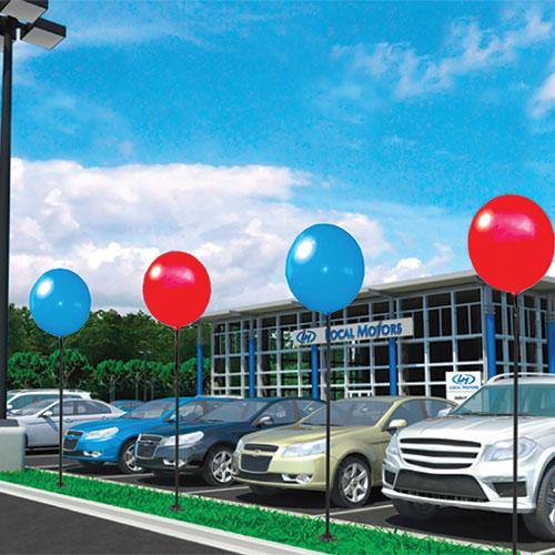 Premium Reusable Balloon Single Pole Kit Auto Dealer