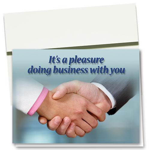 Referral Handshake Thank You Card