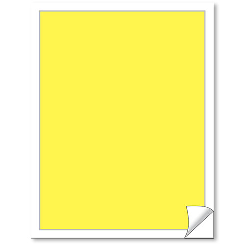 Blank Yellow Vehicle Window Stickers