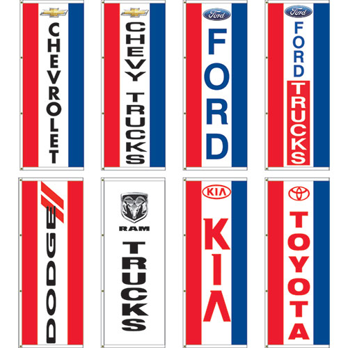 Dealer Logo Display Master Flags 3' x 8'