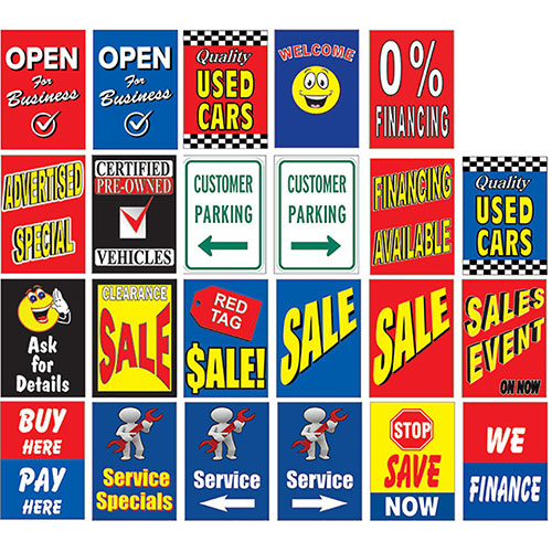 Replacement Signs for Outdoor Message Board Kit