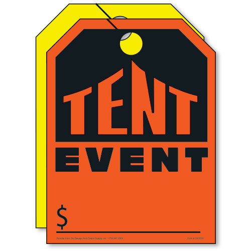 Fluorescent Mirror Tags - Tent Event