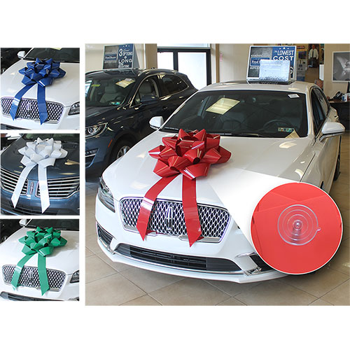 """28"""" Big Gift Car Bow with Suction Cup"""