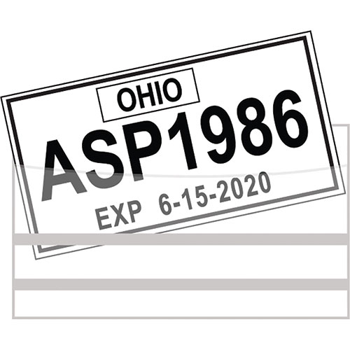 License Plate Tag Bags with Adhesive (100)