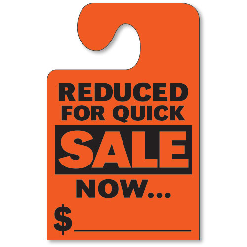 Reduced for Quick Sale Mirror Tags with Hook - Fluorescent Red
