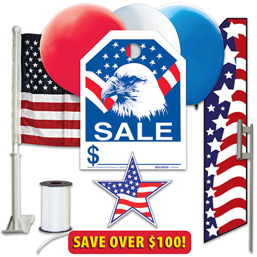 Patriotic Event Kit with Ground Spike