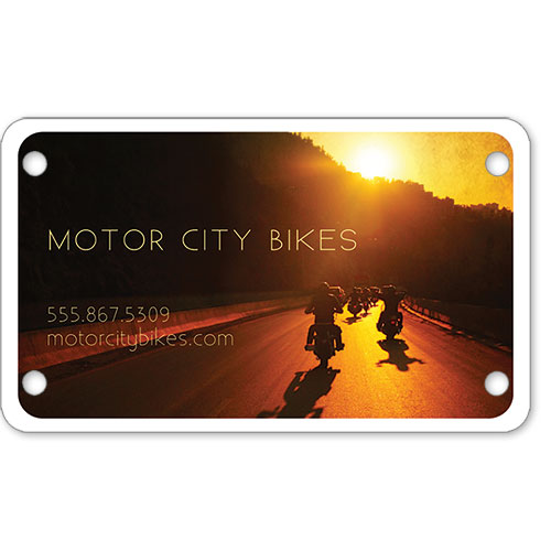 "Motorcycle Message Plates (4"" x 7"") Template #8"