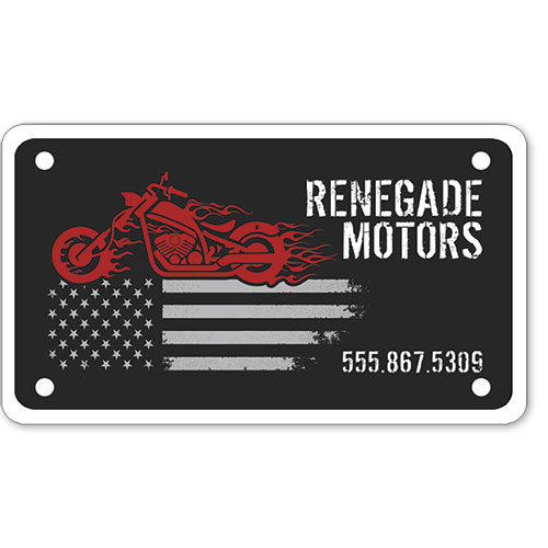 """Motorcycle Message Plates (4"""" x 7"""") Template #9"""