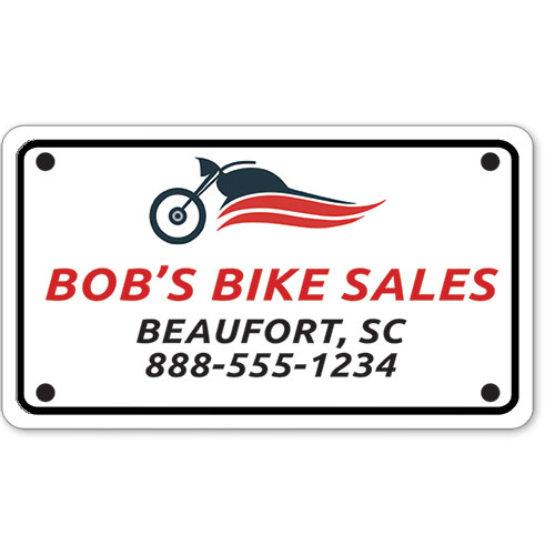 """Motorcycle Message Plates (4"""" x 7"""") Template #10"""