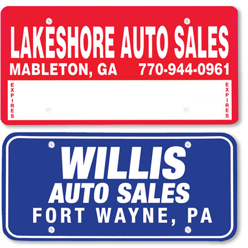 Custom Imprinted Poly Coated Cardboard Message Plates - 1 Color