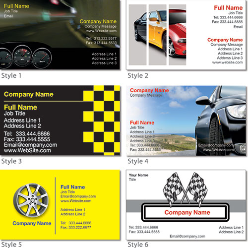 Glossy Auto Dealer Business Cards - 2 x 3.5 inch (C2S)