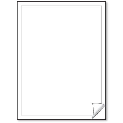 Blank White Vehicle Info Window Stickers (50)