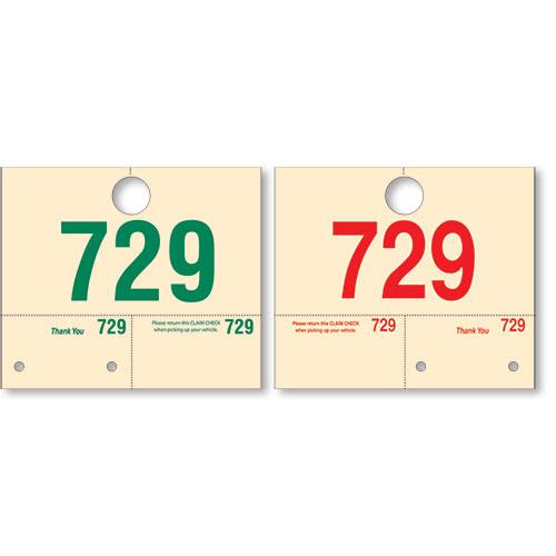 Numbered Manila Hang Tags
