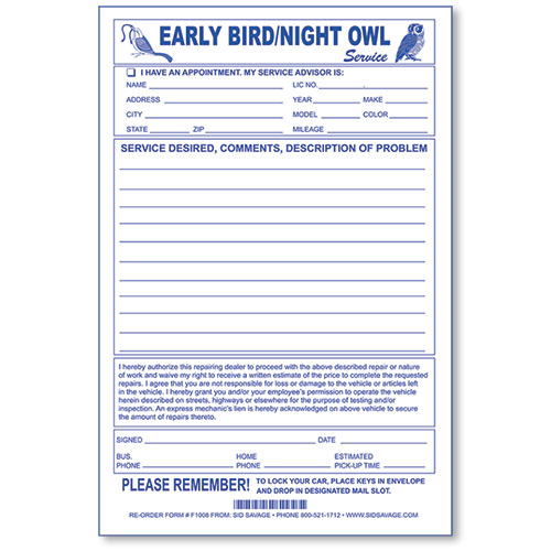 Early Bird Envelopes