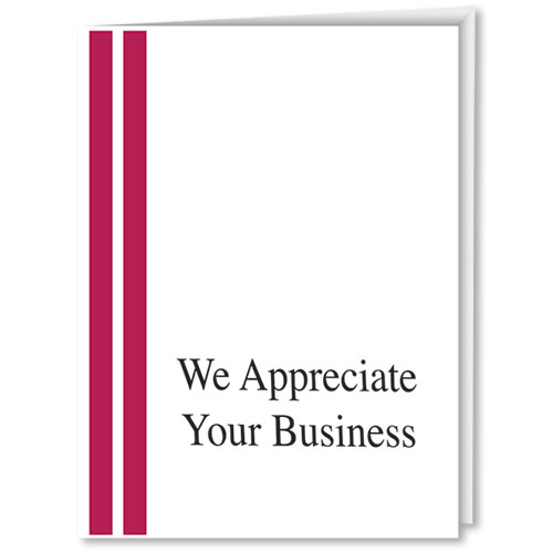 Dealership Thank You Cards - We Appreciate Your Business (Vertical)