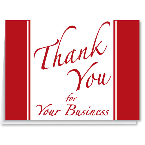 Dealership Thank You Cards - Thank You for Your Business