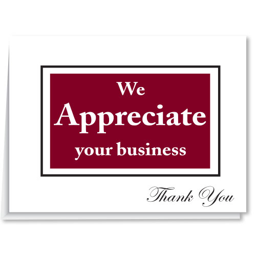 Dealership Thank You Cards - We Appreciate Your Business (Horizontal)