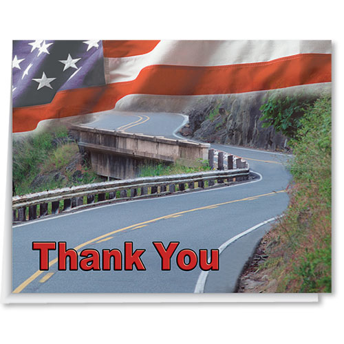 Flag Premium Thank You Card