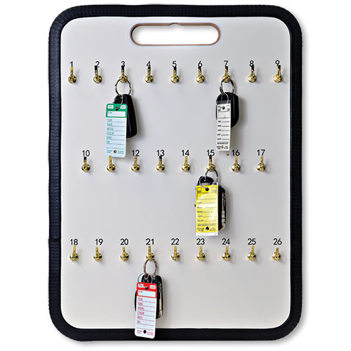 26-Hook Portable Key Storage Board