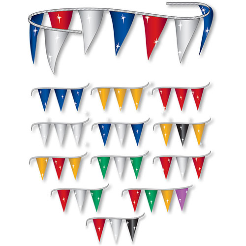 Metallic Triangle Pennant