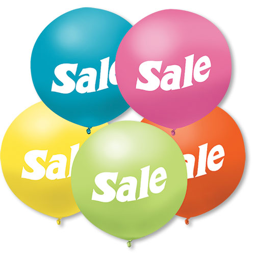 "17"" Pastel Outdoor Sale Balloons"