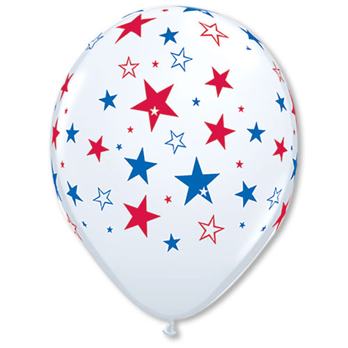 16-inch Red and Blue Star Balloons