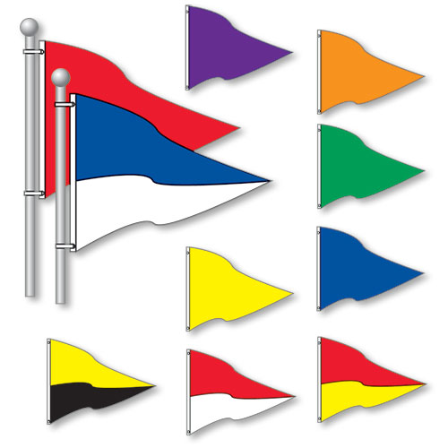 Small Triangle Flags