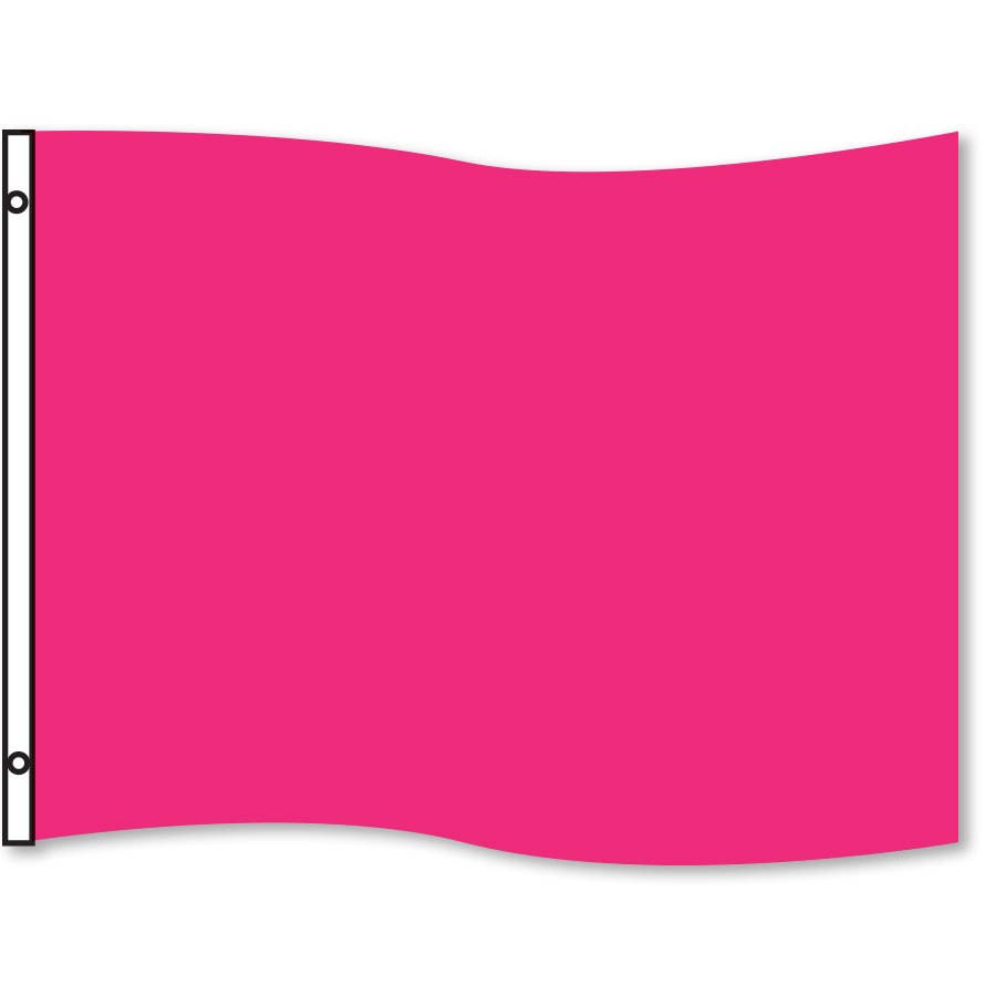 Pink Rectangle Flag 3' x 5'