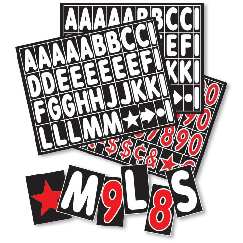 Replacement Letters and Numbers for 2 Sided Sidewalk Sign