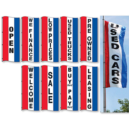 Vertical Stripe Drape Flags