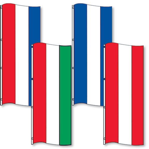 3-Panel Blank Vertical Drape Flags