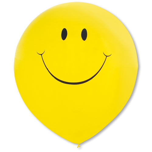 "17"" Premium Outdoor Smiley Balloons"