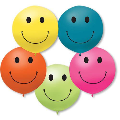 17 Inch Smiley Assorted Premium Outdoor Balloons