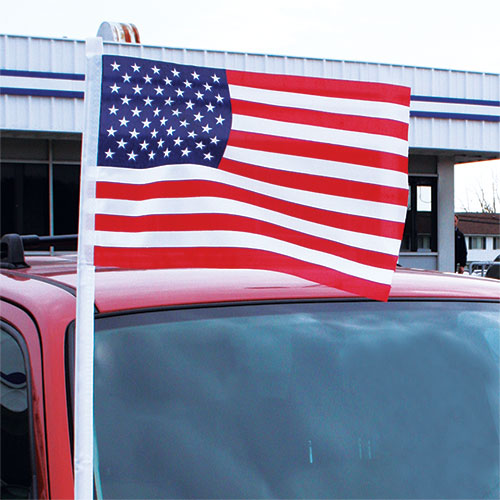 Cloth American Flag Antenna Pennant
