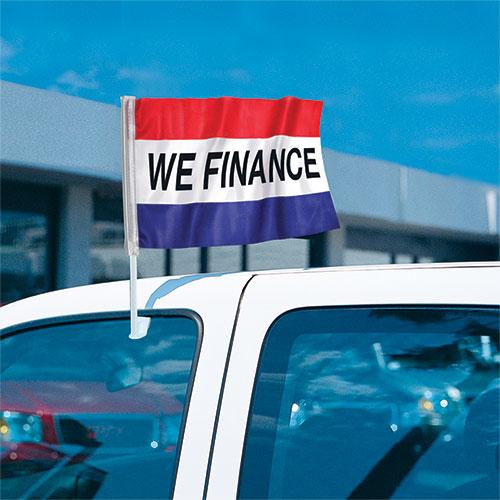 We Finance - Economy Clip-On Flag Kit