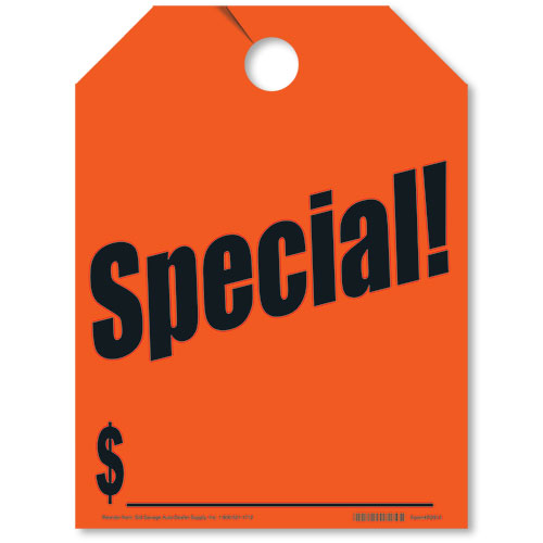 Special Rear View Mirror Tags - Fluorescent Red