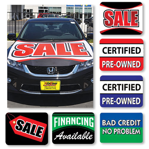 Dealer Car Hood Signs - Medium