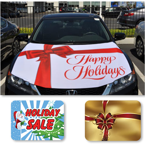 Holiday Car Hood Covers - Medium