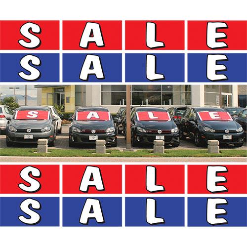 Frontline Car Lot Banner Kit Auto Dealer Advertising