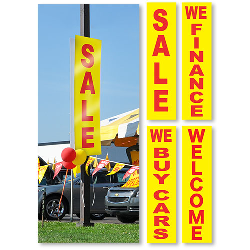 Yellow-Red Vertical Message Sign