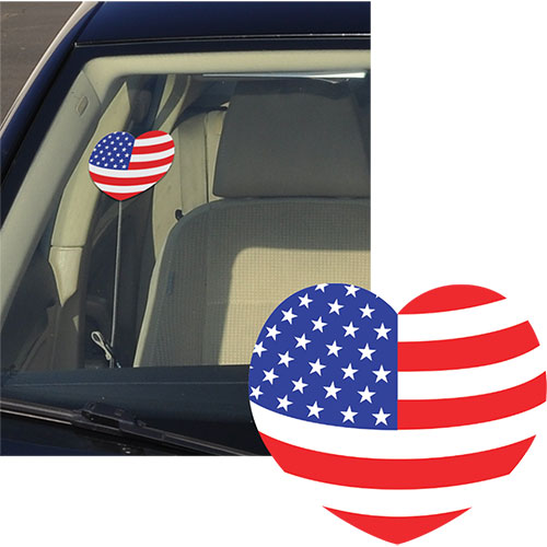 Patriotic Heart Stickers