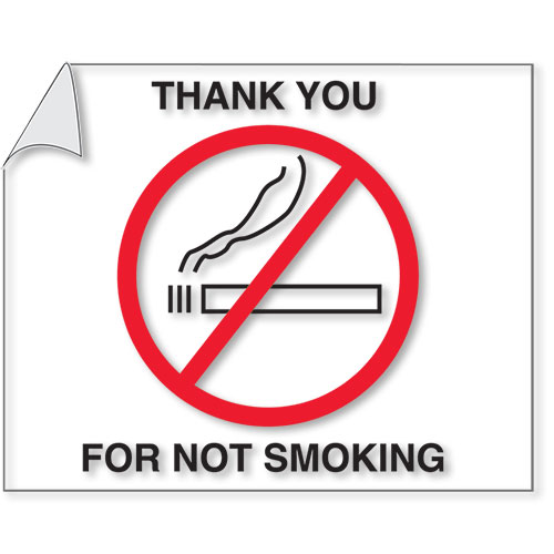 Thank You For Not Smoking Static Clings
