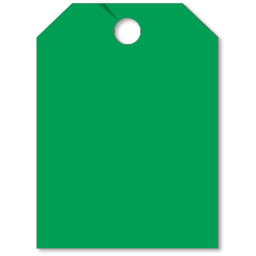 Blank Mirror Hang Tags - Green