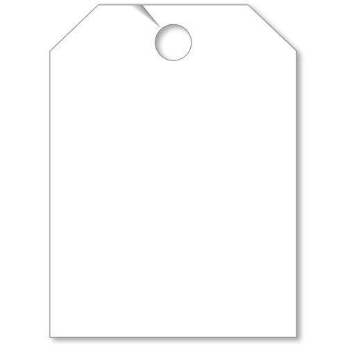 Blank Mirror Hang Tags - White