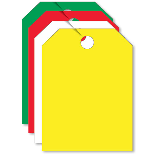 Combo Blank Mirror Tags - Non Fluorescent
